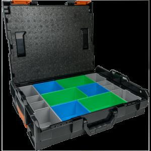 Systémový kufor na náradie Merabell L-BOXX 102 s vložkou na uloženie fitingov