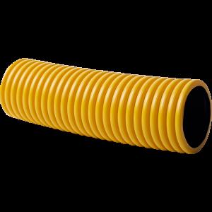 KOPOFLEX® – ohybná dvojplášťová korugovaná chránička (žltá), dĺžka 50 m, priemer vonkajší/vnútorný – 50/41 mm