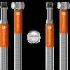 """Hadica Merabell Aqua, vodovodná batéria, G3/8""""–M10x1 dlhý závit – 2ks + perlátor"""